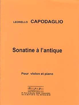 Sonatine à l'antique Leonello Capodaglio Partition laflutedepan