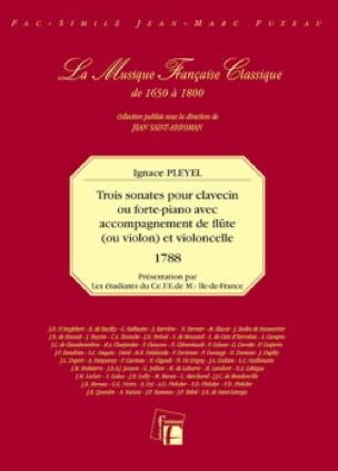 3 Sonates pour clavecin ou forte-p. avec acc. de flûte ou vln et vcelle - laflutedepan.com