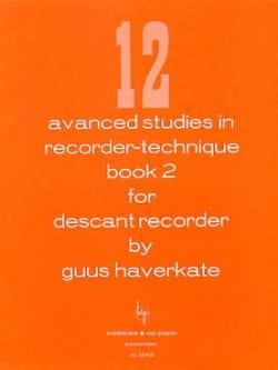 12 Advanced studies in recorder-technique Volume 2 laflutedepan