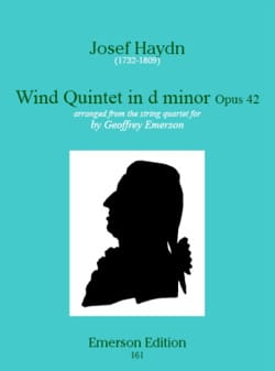 Wind quinet in d minor op. 42 - Stimmen HAYDN Partition laflutedepan