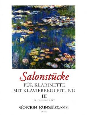 Salonstücke Heft 3 -Klarinette Klavier Fritz-Georg Hölÿ laflutedepan