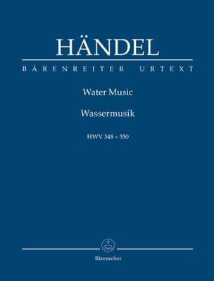 Water Music Hwv348-350 HAENDEL Partition Petit format - laflutedepan