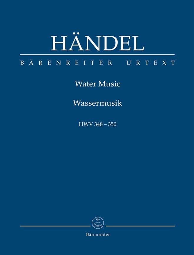 Water Music Hwv348-350 - HAENDEL - Partition - laflutedepan.com