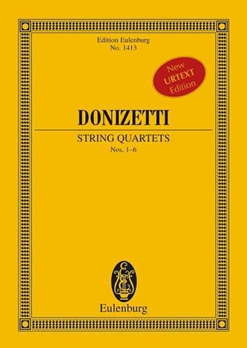 Quatuors A Cordes N°1-6 - DONIZETTI - Partition - laflutedepan.com