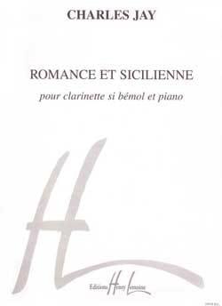 Romance et Sicilienne Charles Jay Partition Clarinette - laflutedepan
