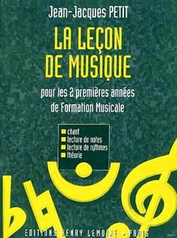 La leçon de musique - 1/2ème année Jean-Jacques Petit laflutedepan