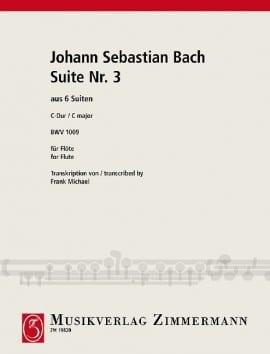 6 Suiten Nr. 3 BWV 1009 - Flöte Solo BACH Partition laflutedepan