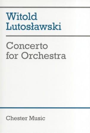 Concerto for orchestra - Score LUTOSLAWSKI Partition laflutedepan