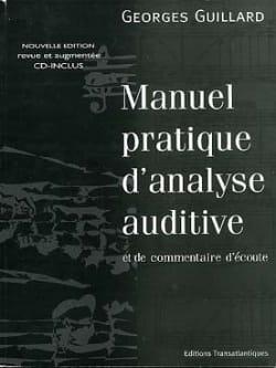 Manuel pratique d'analyse auditive Georges Guillard laflutedepan