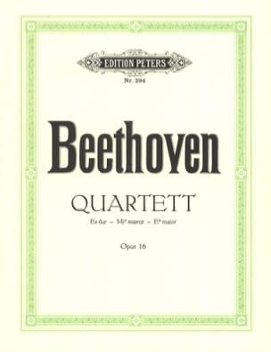 Quartett Es-Dur op. 16 -Stimmen BEETHOVEN Partition laflutedepan