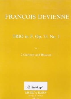 Trio in F op. 75 n° 1 -2 clarinets bassoon DEVIENNE laflutedepan