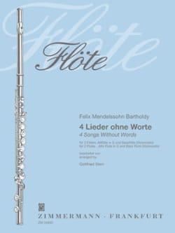 4 Lieder ohne Worte - 4 Flöten MENDELSSOHN Partition laflutedepan