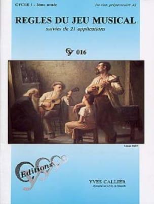 Règles du jeu musical - Cycle 1 - 3ème année - laflutedepan.com
