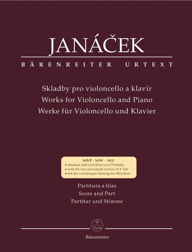 Works for Violoncello and piano - JANACEK - laflutedepan.com