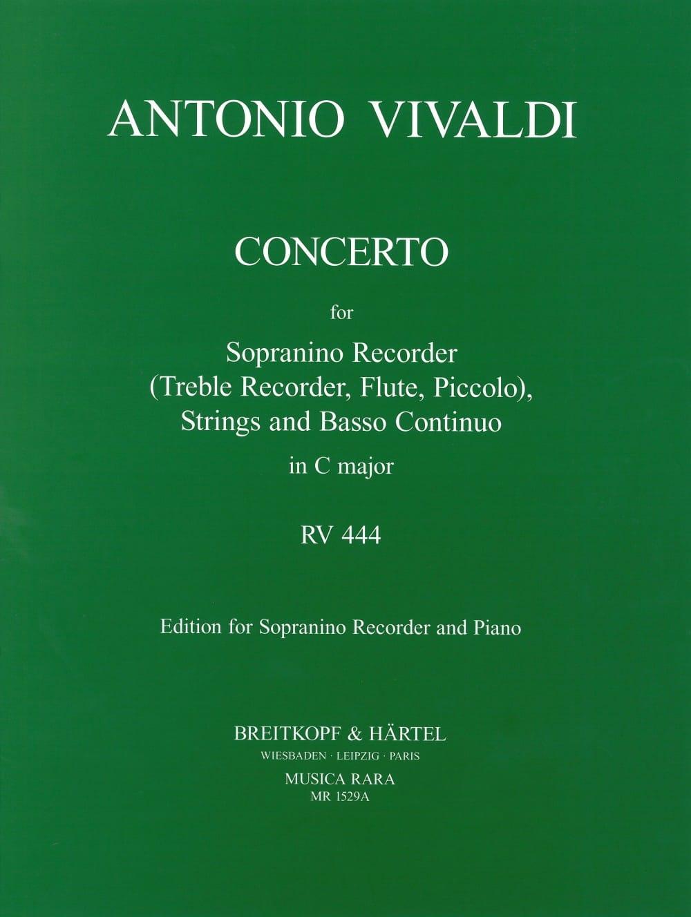 Concerto Rv 444 en Do Majeur - VIVALDI - Partition - laflutedepan.com