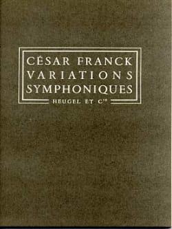 César Franck - Symphonic Variations - Conductor - Partition - di-arezzo.co.uk