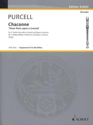 Chaconne PURCELL Partition Quatuors - laflutedepan