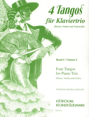 4 Tangos For Piano Trio Volume 1 Werner Thomas-Mifune laflutedepan