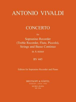 Concerto Rv 445 en la Mineur F 6 N° 9 VIVALDI Partition laflutedepan