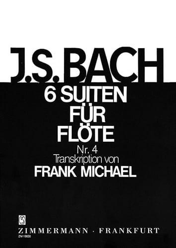 Suite Nr. 4 BWV 1010 Pour Flûte Seule 6 Suiten For Flöte Solo - laflutedepan.com