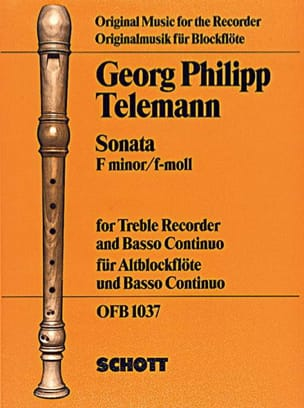 Sonata f-moll -Altblockflöte u. Bc - TELEMANN - laflutedepan.com