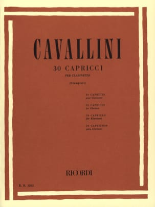 30 Capricci Ernesto Cavallini Partition Clarinette - laflutedepan