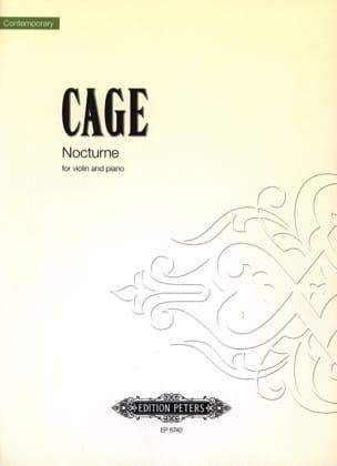 Nocturne CAGE Partition Violon - laflutedepan