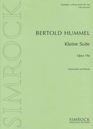 Kleine Suite op. 19a HUMMEL Partition Violoncelle - laflutedepan