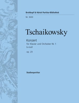 Concerto Piano et Orch. N°1 Op.23 Si Min. - Conducteur laflutedepan