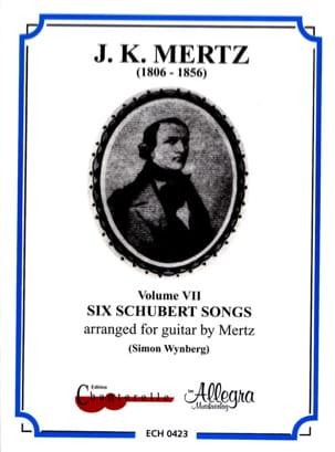 Six Schubert Songs Vol 7 SCHUBERT Partition Guitare - laflutedepan
