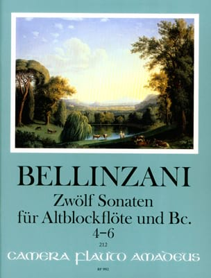 12 sonates pour flûte à bec alto et basse continue op. 3, vol 2 : 4-6 laflutedepan