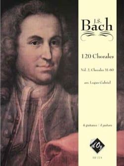 120 Chorals volume 2 BACH Partition Guitare - laflutedepan