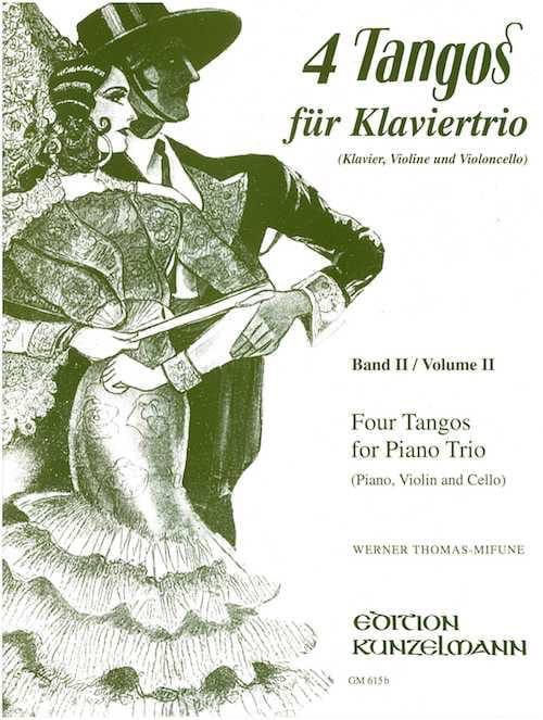 4 Tangos For Piano Trio, Volume 2 - laflutedepan.com