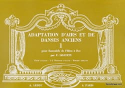 Adaptation airs danses anciens - Volume 1 Partition laflutedepan