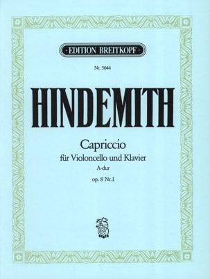 Capriccio la majeur, op. 8 n° 1 HINDEMITH Partition laflutedepan