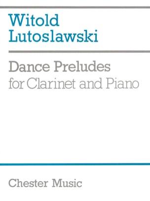 Dance Preludes LUTOSLAWSKI Partition Clarinette - laflutedepan