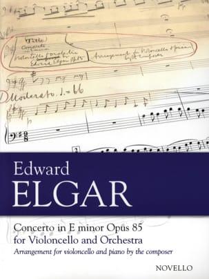 Concerto pour Violoncelle op. 85 ELGAR Partition laflutedepan