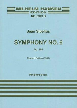 Symphonie n° 6 op. 104 - Partitur SIBELIUS Partition laflutedepan