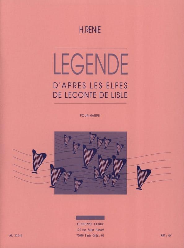 Légende - Henriette Renié - Partition - Harpe - laflutedepan.com