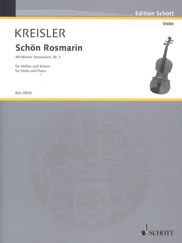 Schön Rosmarin - KREISLER - Partition - Violon - laflutedepan.com