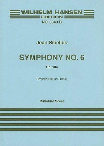 Symphonie n° 6 op. 104 - Partitur - SIBELIUS - laflutedepan.com