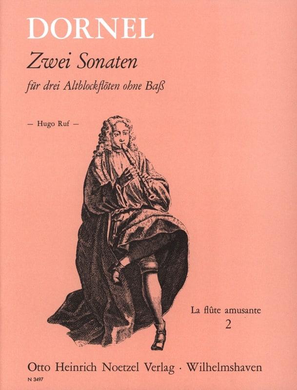 2 Sonaten D-Moll B-Dur - Antoine Dornel - Partition - laflutedepan.com