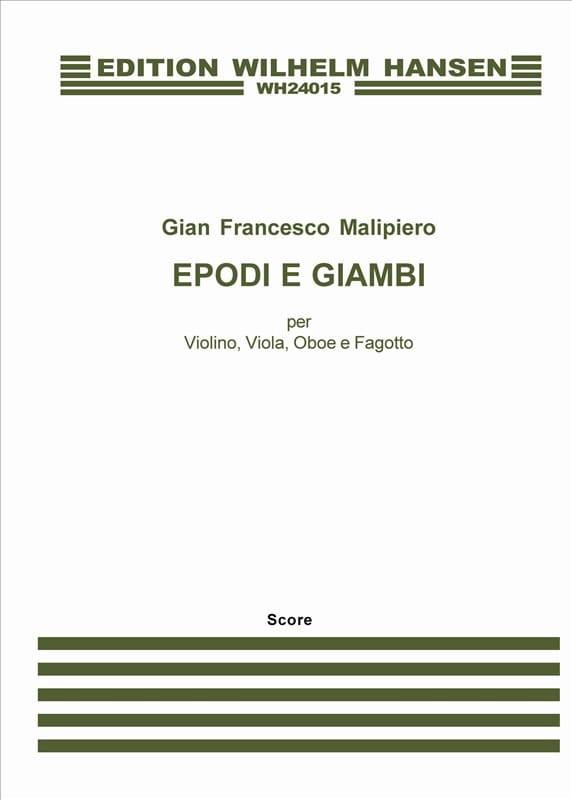 Epodi E Giambi - Gian Francesco Malipiero - laflutedepan.com