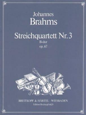 Streichquartett B-Dur op. 67 -Stimmen BRAHMS Partition laflutedepan