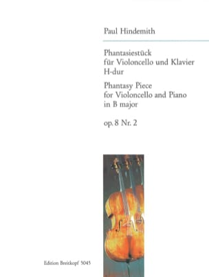 Phantasiestück H-Dur, op. 8 n° 2 HINDEMITH Partition laflutedepan