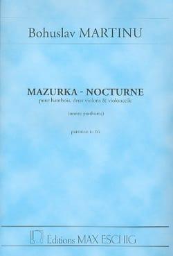 Mazurka - Nocturne - Conducteur MARTINU Partition laflutedepan