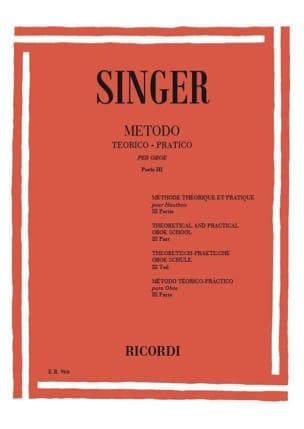 Sigismondo Singer - Metodo Theorico-Pratico - Oboe - Volume 3 - Partition - di-arezzo.fr