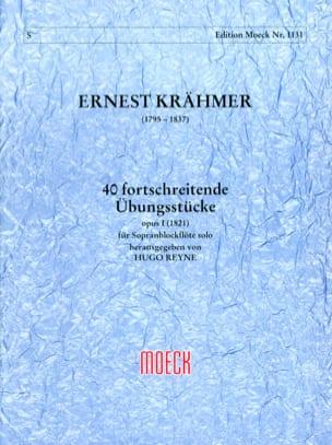 40 fortschreitende Übungsstücke op. 1 Ernest Krähmer laflutedepan