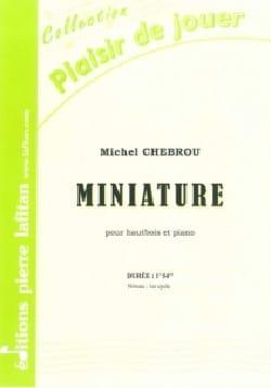 Miniature Michel Chebrou Partition Hautbois - laflutedepan