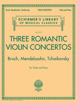 Bruch Max / Mendelssohn Bartholdy Felix / Tchaikovski Piotr Illitch - 3 Conciertos románticos para violín - Violín y piano - Partition - di-arezzo.es